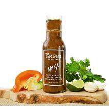 Corine's Cuisine Sauce No. 4 — 8 oz — Spicy Nam-Pla, Fresh Lime & Coriander Sauce — For Dipping, Seasoning & Cooking