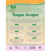 Herbs & Bees - 100% COPPER TONGUE SCRAPER