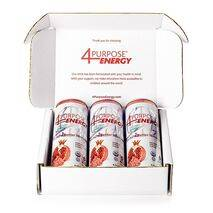 4 Purpose Energy - Raspberry Pomegranate Organic Energy Drink (3 Pack)