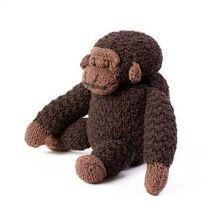 Organic Handknit Gorilla Doll