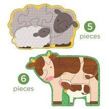 Wooden Puzzles for Toddlers - Farm Babies