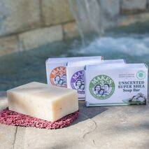 3-Pack Organic Bar Soap with Eco Friendly Soap Lift