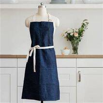 Hemp Organic Apron - Denim Blue