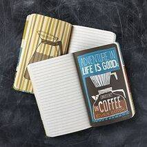 "Writing Notebook (with inspirational pictures) - ""Must Have Coffee"""
