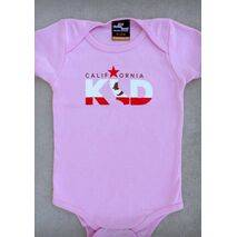 CALIFORNIA KID – CALIFORNIA BABY GIRL CORAL, PINK & BLACK ONEPIECE & T-SHIRT