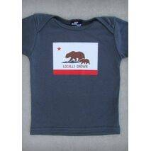 LOCALLY GROWN – CALIFORNIA BABY GIRL PINK & CHARCOAL GRAY & OLIVE GREEN ONEPIECE & T-SHIRT