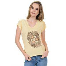 Women's Print T-shirts - 70% viscose from Organic Bamboo and 30% Organic Cotton