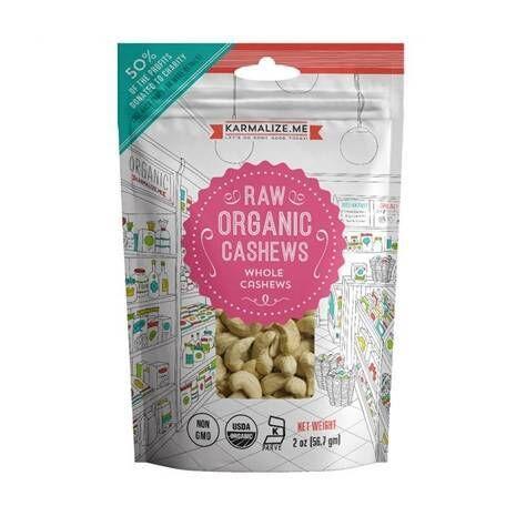 Organic Raw Cashews 2oz